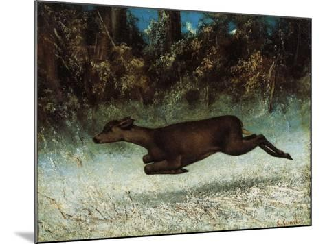 Doe Leaping, 19th Century-Gustave Courbet-Mounted Giclee Print