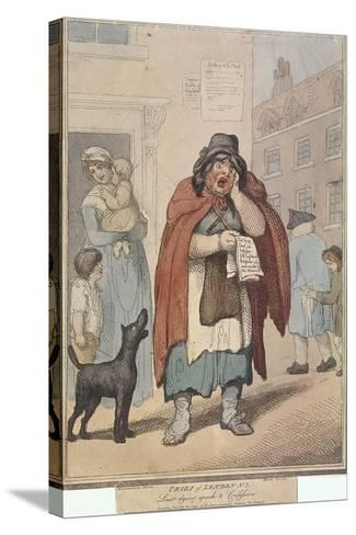 Last Dying Speech and Confession, Plate III of Cries of London, 1799-H Merke-Stretched Canvas Print