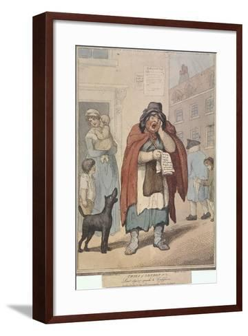 Last Dying Speech and Confession, Plate III of Cries of London, 1799-H Merke-Framed Art Print