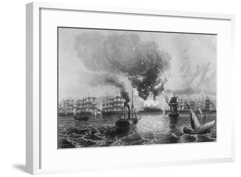 Bombardment of St Jean D'Acre by Admiral Sir Charles Napier, November 1840-H Winkles-Framed Art Print