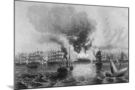 Bombardment of St Jean D'Acre by Admiral Sir Charles Napier, November 1840-H Winkles-Mounted Giclee Print