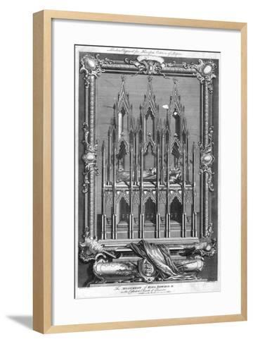 The Monument of King Edward II, in the Cathedral Church of Gloucester, 1787- Goldar-Framed Art Print