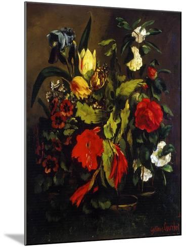 Still Life of Flowers, 1863-Gustave Courbet-Mounted Giclee Print