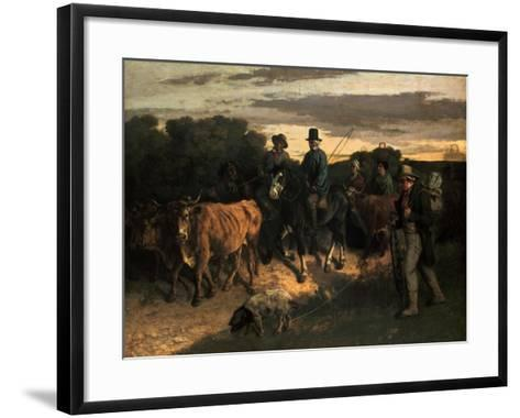 The Farmers of Flagey (Les Paysans De Flagey), 1855-Gustave Courbet-Framed Art Print