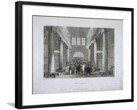 Stock Exchange, Bartholomew Lane, London, C1841-Harlen Melville-Framed Art Print