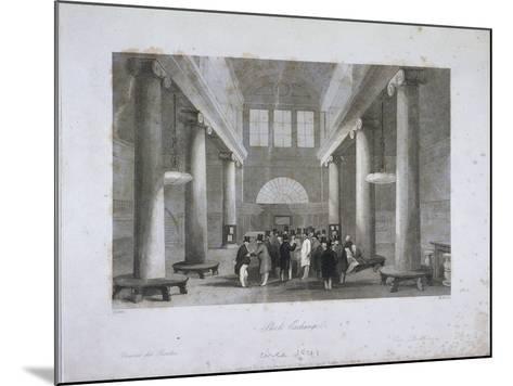 Stock Exchange, Bartholomew Lane, London, C1841-Harlen Melville-Mounted Giclee Print
