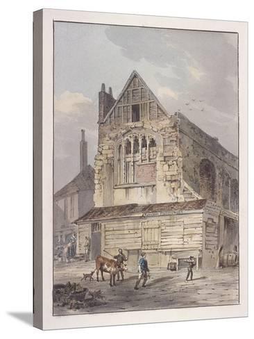 Leadenhall Chapel, London, C1810-George Shepherd-Stretched Canvas Print