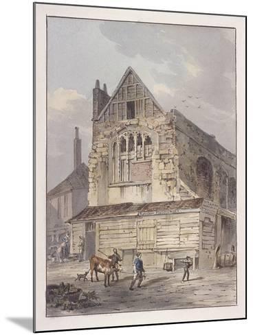 Leadenhall Chapel, London, C1810-George Shepherd-Mounted Giclee Print