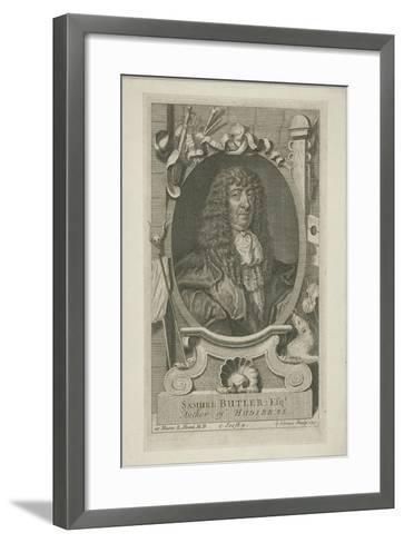 Samuel Butler in Wig and Robes, 1744-George Vertue-Framed Art Print