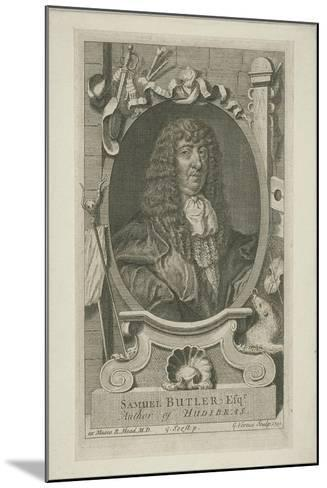 Samuel Butler in Wig and Robes, 1744-George Vertue-Mounted Giclee Print