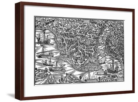 Constantinople, Mid 16th Century-Giovanni Andrea Vavassori-Framed Art Print