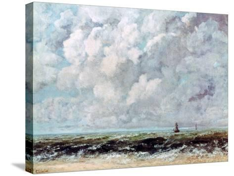 Marine Landscape, C1840-1877-Gustave Courbet-Stretched Canvas Print
