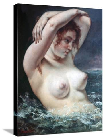 The Woman in the Waves, 1868-Gustave Courbet-Stretched Canvas Print