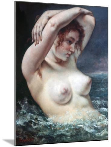 The Woman in the Waves, 1868-Gustave Courbet-Mounted Giclee Print