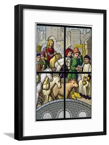 Toll Bridge, 15th Century-H Moulin-Framed Art Print