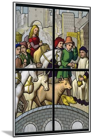 Toll Bridge, 15th Century-H Moulin-Mounted Giclee Print
