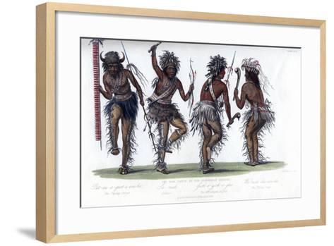 The War Dance, by the Ojibbeway Indians, 1848-Harris-Framed Art Print