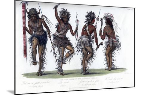 The War Dance, by the Ojibbeway Indians, 1848-Harris-Mounted Giclee Print