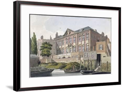 Fishmongers' Hall from the River Thames, London, C1810-George Shepherd-Framed Art Print