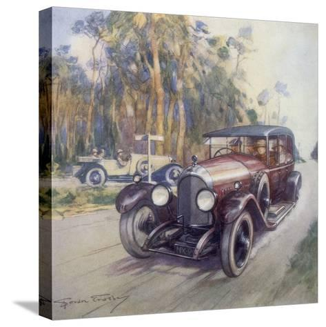 Poster Advertising Bentley Cars, 1927-Gordon Crosby-Stretched Canvas Print