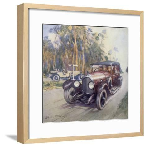 Poster Advertising Bentley Cars, 1927-Gordon Crosby-Framed Art Print
