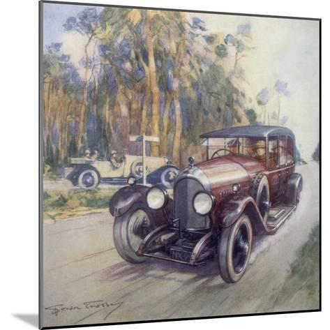 Poster Advertising Bentley Cars, 1927-Gordon Crosby-Mounted Giclee Print