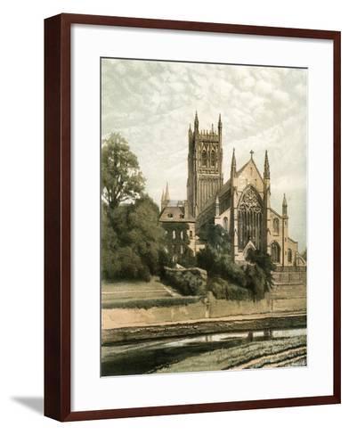 Worcester Cathedral, Worcestershire, C1870- Hanhart-Framed Art Print