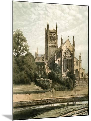 Worcester Cathedral, Worcestershire, C1870- Hanhart-Mounted Giclee Print