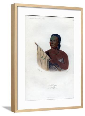 Nah-Pope (The Sou), a Sac Warrior, 1848-Harris-Framed Art Print