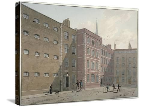 View of the Quadrangle at Bridewell, City of London, 1810-George Shepherd-Stretched Canvas Print