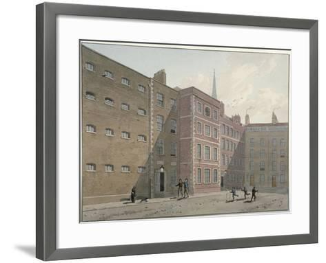 View of the Quadrangle at Bridewell, City of London, 1810-George Shepherd-Framed Art Print