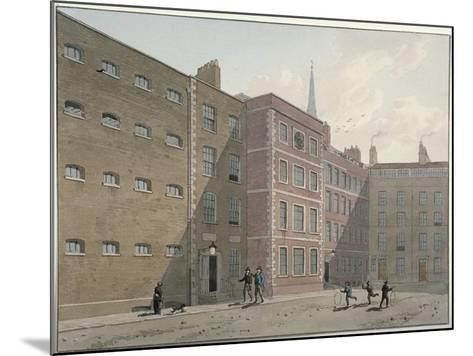 View of the Quadrangle at Bridewell, City of London, 1810-George Shepherd-Mounted Giclee Print