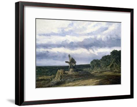 Landscape with a Mill, C1783-1843-Georges Michel-Framed Art Print