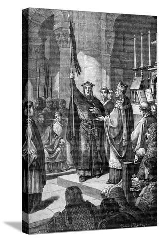 Louis VII, Saint Denis, 1898-Gustave Demoulin-Stretched Canvas Print