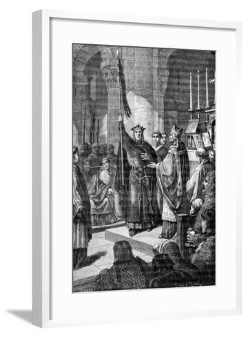 Louis VII, Saint Denis, 1898-Gustave Demoulin-Framed Art Print