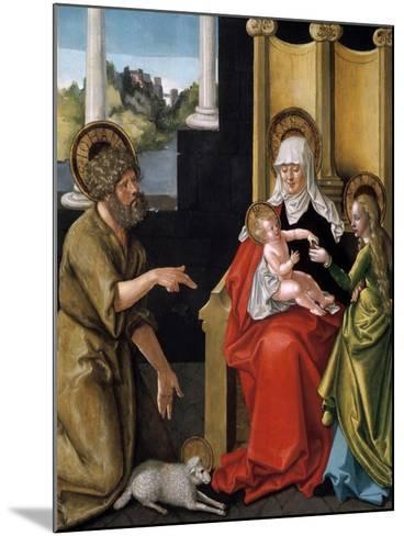 Saint Anne with the Christ Child, the Virgin, and Saint John the Baptist, C1511-Hans Baldung-Mounted Giclee Print