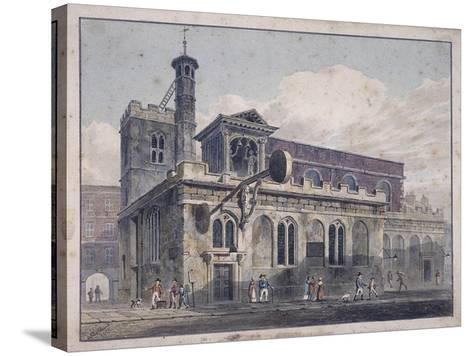 St Dunstan in the West, London, 1811-George Shepherd-Stretched Canvas Print