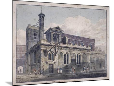 St Dunstan in the West, London, 1811-George Shepherd-Mounted Giclee Print