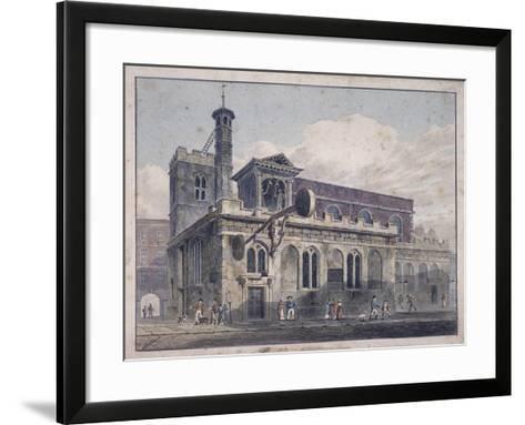 St Dunstan in the West, London, 1811-George Shepherd-Framed Art Print