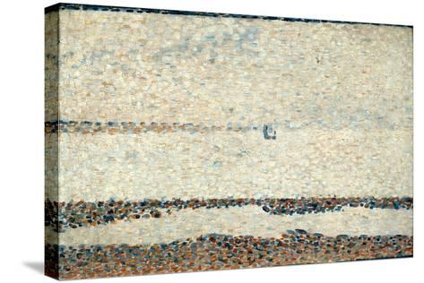 Beach at Gravelines, 1890-Georges Seurat-Stretched Canvas Print