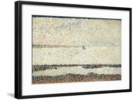 Beach at Gravelines, 1890-Georges Seurat-Framed Art Print