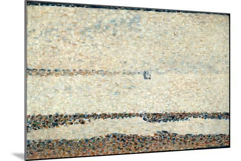 Beach at Gravelines, 1890-Georges Seurat-Mounted Giclee Print