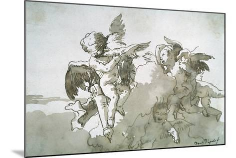 Cupids with Doves and a Torch, 17th Centruy-Giovanni Battista Tiepolo-Mounted Giclee Print