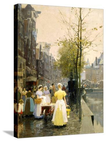 An October Morning in Amsterdam, C1895-Hans Hermann-Stretched Canvas Print