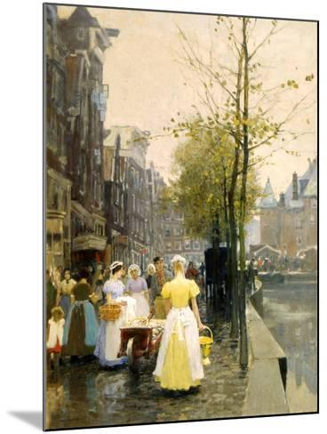An October Morning in Amsterdam, C1895-Hans Hermann-Mounted Giclee Print