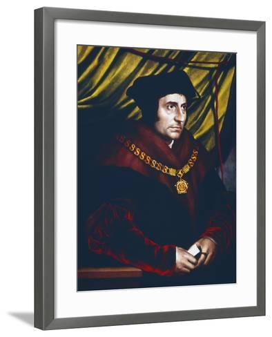 Thomas More, English Statesman, Scholar and Saint, C1527-Hans Holbein the Younger-Framed Art Print