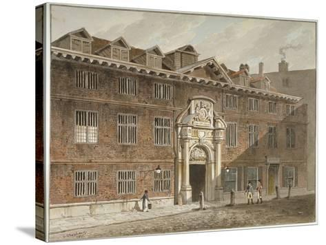 West Front of Blackwell Hall, King Street, City of London, 1811-George Shepherd-Stretched Canvas Print