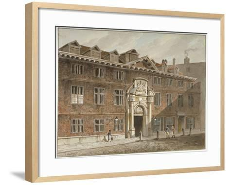 West Front of Blackwell Hall, King Street, City of London, 1811-George Shepherd-Framed Art Print