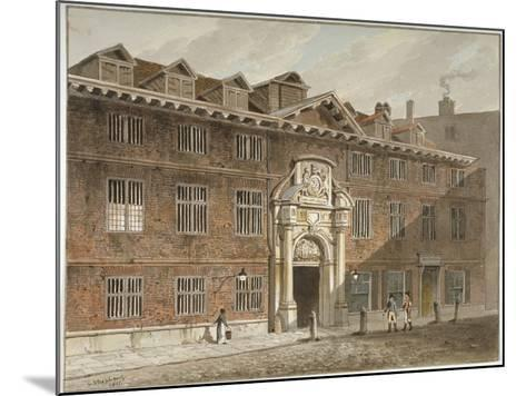 West Front of Blackwell Hall, King Street, City of London, 1811-George Shepherd-Mounted Giclee Print