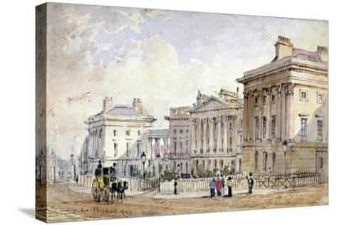 View of Clarence Terrace in Regent's Park, London, 1827-George Shepherd-Stretched Canvas Print